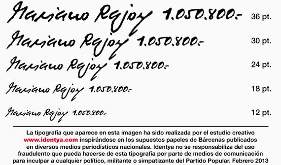 Corrupt Script, la tipografía basada en Luis Bárcenas